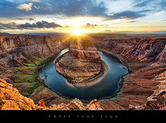 Horse Shoe Bend (Beboy_photographies) Tags: sunset arizona horse de shoe soleil colorado bend coucher canyon page hdr coucherdesoleil horseshoebend