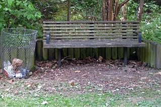 The Scruffiest Bench in Lenton - Church Street - 2011