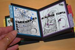 ALAW book done (tpurk) Tags: lettering concertina handmadebook bookdisplay zentangle