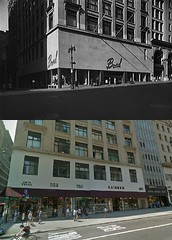 Bond's, at 5th Ave. and 35th St., New York City. 1948 Vs 2012 (JAVA1888) Tags: new york city nyc ny building sign architecture vintage store neon before storefront signage after then now
