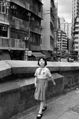 School's Over! (Ding Yuin Shan) Tags: leica blackandwhite girl 35mm out uniform hong kong schools wan summilux m9 sheung preasph dingyuinshan