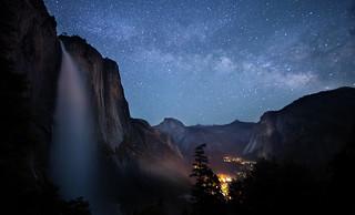 Yosemite Falls Milky Way