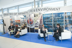 DINALOG display at Dutch Ministry of Infrastructure and Environment stand
