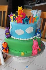 Backyardigans Birthday Cake (sugarcrushmiami) Tags: tashacake backyardiganscake sugarcrush sugarcrushmiami pablocake austincake tyronecake uniquacake grassskycake