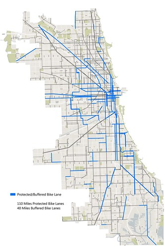 Bike Chicago Map Array