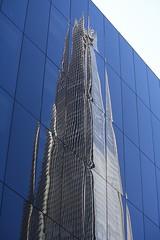 Reflection of The Shard (as098_uk) Tags: reflection london glass architecture skyscraper buildings unitedkingdom landmark architects shard renzopiano theshard shuttersaltreflections londonconstructionsites