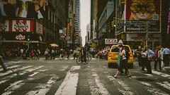 Urban jungle pathways (John Palaganas) Tags: street city newyorkcity newyork pedestrian timesquare crosswalk