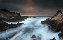Summer storm - Point Lobos (Yan Photography) Tags: ocean california park longexposure sunset sea sky seascape storm nature rock sunrise landscape monterey rocks state bigsur wave carmel pointlobos thepowerofnow garrapate carmlebythesea