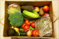 The Organic Collective, Week 18 (suavehouse113) Tags: food apple vegetables fruit tomato pumpkin avocado corn box cucumber australia broccoli banana potato plasticbag pineapple carrot produce onion organic fremantle freo westernaustralia freshproduce homedelivery mynewcamera hamiltonhill purplecarrot theorganiccollective
