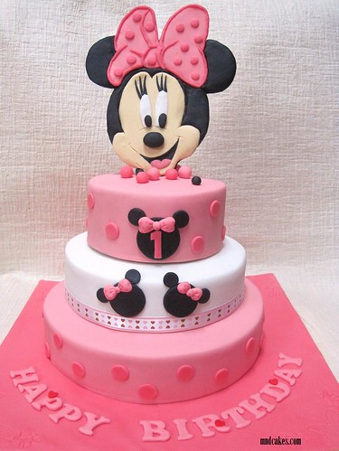 3-TIered Minnie Mouse Cake