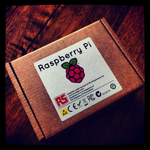 Wahoo! My Raspberry Pi has arrived