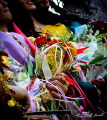"Colorful Kurdistan! [Northern of Iraq] (Noor Al-janabi ""N.J"") Tags: flowers roses woman colors women colorful university colours traditional iraq graduation happiness s clothes american bouquet kurdistan  kurdish   aui      auis  sulimani"
