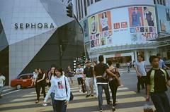 each of us (yangkuo) Tags: street crossing kodak natura fujifilm pavilion kualalumpur expired 800 bukitbintang sephora uniqlo classica ultramax npmode