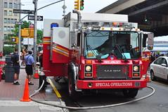 FDNY Special Operations Command D-4 (Triborough) Tags: nyc newyorkcity ny newyork manhattan firetruck financialdistrict fireengine ferrara mack fdny lowermanhattan decon decontamination ffa d4 specialoperations newyorkcounty newyorkcityfiredepartment specialoperationscommand