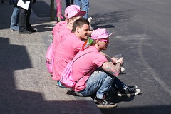 The pink crew (Steenjep) Tags: cycling herning giro giroditalia cykling giroditalia2012