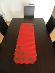 Trilhos (Katrin H. Moecke) Tags: natal pscoa patchwork decorao jantar mesa datas enfeite trilho pontocruz patchcolagem