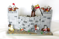 Defending the Wall (Pic 3) (Ben Unleashed!) Tags: castle lego knights orcs loreos pentaxkr
