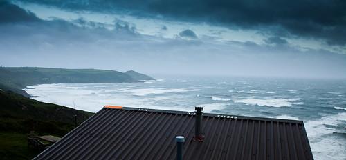 White hut view