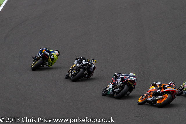 Bradley Smith followed by some of the cream of Moto2
