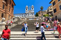 The Famous Spanish Steps (Scalinata della Trinat dei Monti) Rome (Maria_Globetrotter) Tags: italy rome roma church june piazzadispagna rim rom plazadeespaa spanishsteps spagna 2012 trinitdeimonti spaansetrappen spanischetreppe spanskatrappan denspansketrappe ispanyolmerdivenleri scalinatadellatrinatdeimonti