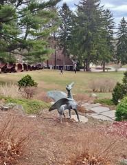 foreground: Pegasus; background: Lincoln (ArtFan70) Tags: sculpture usa art animal statue america ma unitedstates pegasus massachusetts lincoln mythology myth greekmythology godfrey decordova sculpturepark duca wingedhorse decordovasculpturepark greekmyth alfredduca dewittgodfrey decordovasculptureparkandmuseum alfredmduca