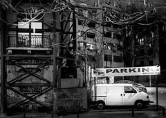 .. s .. (Panagiotis Feloukas) Tags: bw house car night dark parking athens destroyed photographysorted