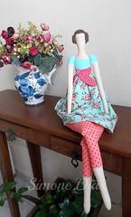 Tilda flower garden (Simone Dias Artes) Tags: doll dolls boneca tilda boencas fabricdoll simonedias tildaflowergarden