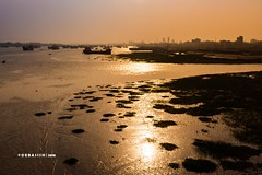 bank of karnafuli (Debasish Sircar) Tags: sunset sun nature canon river chittagong goldenlight 700d