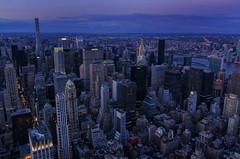 Midtown (Brandon Godfrey) Tags: new york nyc newyorkcity urban skyline cityscape centralpark harlem manhattan wideangle longisland queens esb eastriver empirestatebuilding bluehour chryslerbuilding metlife longislandcity highrises birdseye garmentdistrict panambuilding