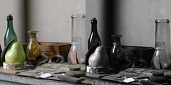 Still-life Pairing (brotherM) Tags: light shadow stilllife france studio aixenprovence softlight atelier czanne