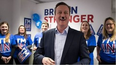 """""""Cameron warns of trouble if we leave the EU"""" (dave@greatcoates) Tags: uk england self europe britain eu conservative independence rule fascist ridicule tory eec scaremongering"""