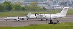 166714 & N563AW De Havilland Canada DHC-8 c/n 563 US Dept of State (eLaReF) Tags: 166714 cessna uc35d encore andrews 6714 usmc de havilland canada dhc8 cn 563 us dept state n563aw 5600679 edinburgh turnhouse egph