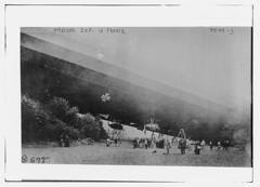 Wrecked zep. [zeppelin] in France (LOC) (The Library of Congress) Tags: october aviation wwi zeppelin worldwari airship libraryofcongress ww1 greatwar firstworldwar dirigible 1917 militaryaviation lighterthanair lta cpi thegreatwar xmlns:dc=httppurlorgdcelements11 committeeonpublicinformation dc:identifier=httphdllocgovlocpnpggbain26859