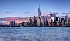 My colorful universe (Jersey JJ) Tags: world park new nyc newyorkcity red newyork color colors beautiful skyline clouds river liberty site colorful state image manhattan nj thecity center scene jersey d750 wtc hudson fusion universe trade j2 hdr lsp my