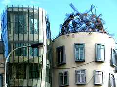 Dancing House (Tanc dm) on Ranovo nbe, Prague, Czech Republic. June 11, 2016 (Vadiroma) Tags: city czech prague capital praha gehry 2016 dancinghouse esko