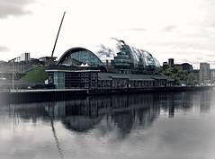 The  Sage-Newcastle quayside.. (ocean rain) Tags: musictheatre newcastleupontyne picmonkey gimp selectivecolour pointshoot nikon river sky