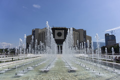 National Palace of Culture, Sofia (hristov.) Tags: water fountain architecture sofia bulgaria ndk