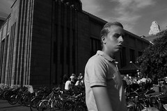 Street portraits (HKI DRFTR) Tags: portrait people blackandwhite man face helsinki eyecontact europe expression candid streetphotography suspicion streetportraiture europeonflickr