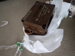 Lack of Professionalism by US Border Protection (heritagefutures) Tags: from camera by japanese us ebay with box wwii border aerial via damaged sha protection customs lack professionalism opened purchased rokuoh sk100