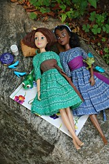 do you think there are ghosts in the woods? (girl enchanted) Tags: ds disney brunette disneystore tangled rapunzeldoll tianadoll theprincessandthefrogdoll