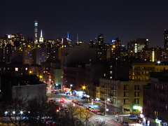 East Harlem Skyline, 2nd Ave. (Sebastian Sinisterra Photography) Tags: road new york city nyc trees winter 2 sky building up skyline night buildings fun outside evening spring high long exposure state bright harlem manhattan towers east 2nd upper ave esb empire nd second tall roads avenue recent av skyview img05932