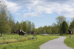 Countryside in Sweden (Helen Lundberg Photography) Tags: sweden swedish summer outdoor countryside rural path landscape idyllic stackfence gärdesgård scandinavia europe norrland northofsweden swedishlapland