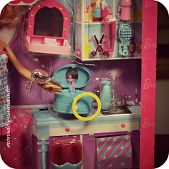 Joyero musical con bailarina de ballet. (morado enamorado) Tags: pink ballet haircut beauty bathroom miniatures ballerina doll day counter prima spa diorama dollhouse jewelrybox shabbychic barbiecollector barbiecollection