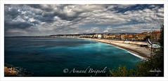 Nice et sa baie. (armandbrignoli) Tags: nice ville baie anges ciel mer sky sea nuage cloud couleur panorama