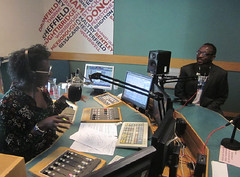Radio Sheffield interview by Paulette Edwards