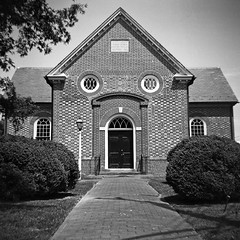 North Farnham Church II (dungan.robert) Tags: blackandwhite film church virginia ilford argus 620 richmondcounty seventyfive panf50 caffenolcmrs copyrightrobertedungan2016 northfarnhamparishchurch