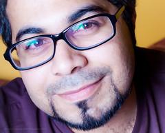Me with smile (Ali Bin Abdullah) Tags: guy canon studio photography 50mm child flash ali saudi arabia 18 portraite ksa 500d hood smile