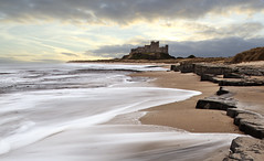 Empty Beaches (Ray Bradshaw.) Tags: sea seascape northumberland landscaoe bamburghcastle castlerocks tiekie