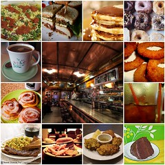 Diner Mosaic~ (Brown Betty) Tags: california birthday nyc newyorkcity people food signs newyork holland art cup netherlands coffee amsterdam cake shop pancakes breakfast pie dessert restaurant baking bacon vegan yummy cafe check fdsflickrtoys neon poem tea sweet chocolate mosaic restaurants mosaics diner coffeeshop spoon frenchfries sandwich delicious foodporn tip birthdaycake fries tips eggs poems diners chocolatecake creamers cupandsaucer goveg guestcheck dinerfood tunasandwich checkplease dinerbooth waiterrant top20mosaics dinermosaic