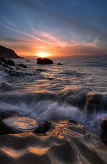 One magical moment.... (Mark Leader) Tags: sea sun art beach water clouds sunrise canon print eos dawn sussex coast rocks waves mark tide picture shore leader hastings magicalmoment 40d